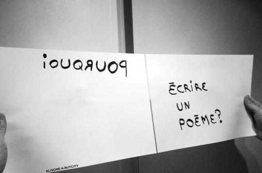 Pourquoi écrire un poème